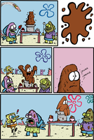 Patrick and the Chocolate Guy by bakertoons