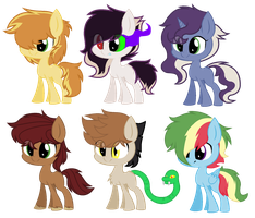 .:Adoptable:. Feather Bangs Crack ships by SapphireArtemis