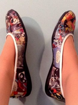 Harley Quinn Shoes by IneffableLexicon