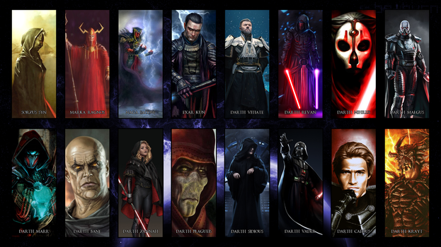 Great Sith over the Ages by Hyperion127