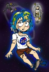 Earth Chan (and Moon Chan) by ANDREU-T