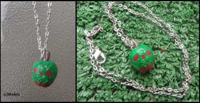 Snow White Poison Apple Clay Necklace by Monkiki62