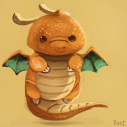 DAY 177. Dragonite (10 Minutes) by Cryptid-Creations