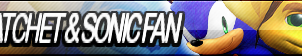 Ratchet and Sonic Fan Button V1.1 (Request) by Natakiro