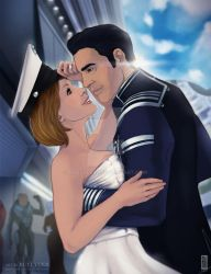 Shepard and Kaidan by rooster82