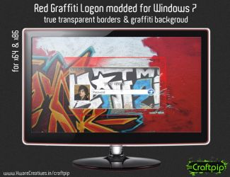 Windows 7 logon - Red Graffiti by CreativeZombic