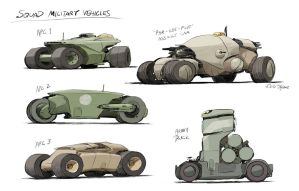 Squad Vehicle Concepts  - Military Vehicles by joulester