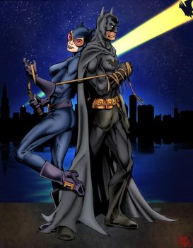 The bat and the cat by ParadoxDigital