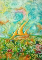 Boat on the color by meryemtomak