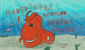 Bashful Octopus by QwertyChris