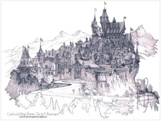 Castle and Village Number Two by Built4ever