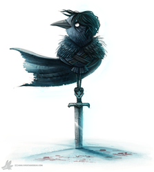 Daily Painting #923 You know nothing Jon Crow by Cryptid-Creations