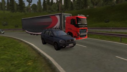 ETS2 - Volvo XC90 vs Volvo FH Sleeper by RJLightning68