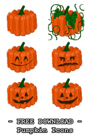FREE DOWNLOAD - Pumpkin Icons by PointyHat