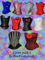Corset pack III by AnnFrost-stock