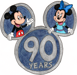 Mickey and Minnie's 90th Birthday Picture by nintendomaximus