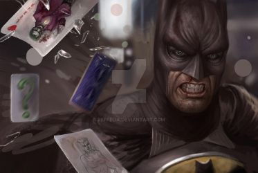 Old work - batman and joker -2013 by Reffelia