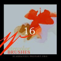Watercolor brushes Set 7 by Blakravell