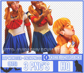 Pack png render: Rap Monster   BTS #001 by VipArmy