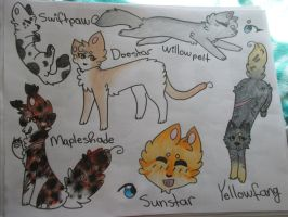 Thunderclan Cats (3) by husky-oasis