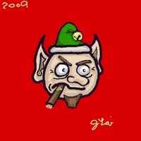 Grumpy Elf by JLai