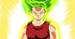 Color 28:Dragon Ball Super-Kale by TakeSama