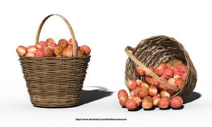 Free Stock PNG:  Apples in Basket by ArtReferenceSource