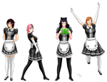 RWBY Maids (Commission) by Lady-of-Mud