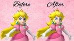 Photoshop Fun - Princess Peach without Makeup by LittleMissGeeky
