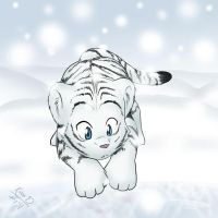 White Tiger Cub by mewgal