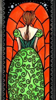 Stained Glass:Anna by nanako87