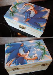 Sonic holiday box by Sega-Club-Tikal