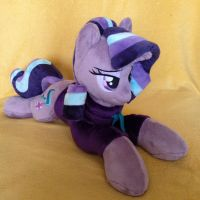 Plushie Starlight Glimmer in fleece hoodie by Burgunzik