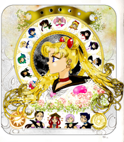 Sailor Moon Zodiac Colored by MarieZombie
