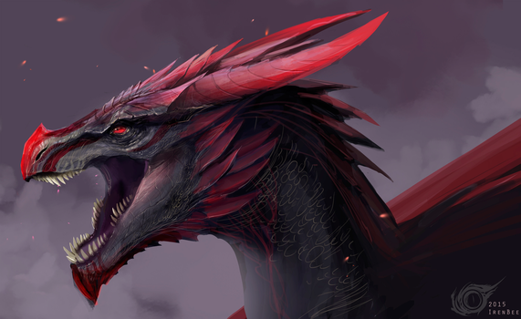 Dragon Viserion Vulom by IrenBee