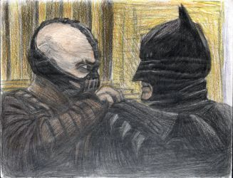 The Dark Knight and Bane by Taqresu650