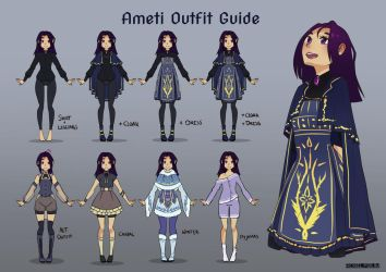 RWBYOC: Ameti - Outfit Guide by Roselysium