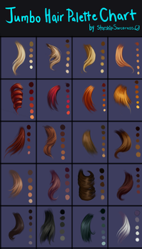 Jumbo Hair Palettes Chart by StarshipSorceress