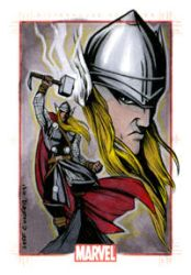 Marvel 70th Anni. Thor Card by jpc-art