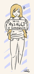 REQ - will assault 4 sandwich by Deimonian