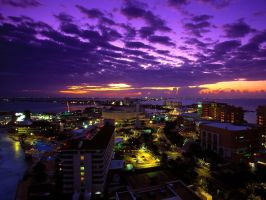 Cancun, mexico at twilight by abbad0n