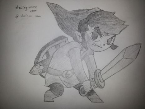 Link ( the legend of zelda ) chibi by drawinganime1007