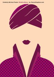 Celebrity Minimal Poster: Shiekha Moza - by: Razan by razangraphics