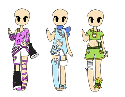 Outfit Adopts OTA - CLOSED by Artistic-Mii-Adopts