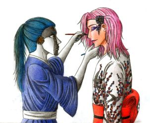 Make-up session - Bleach by Nijichan