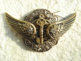 key wings curly broach by TimelessCharm