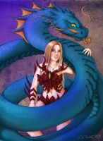 Andrea and her Water Dragon by Neyus