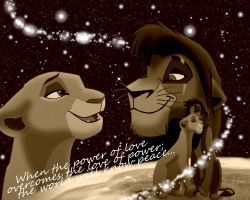 Kiara and Kovu Wallpaper by BurningBridges44
