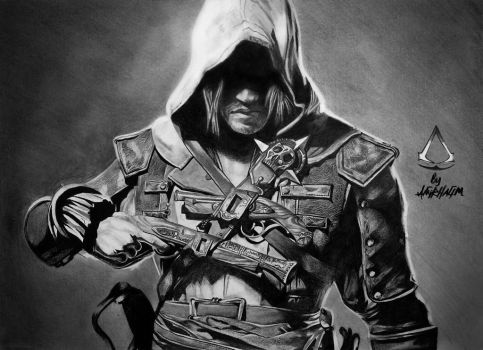 DRAWING ASSASSIN'S CREED IV-JAMES by Neveramez