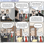 The Adventures of Business Cat - Charges by tomfonder